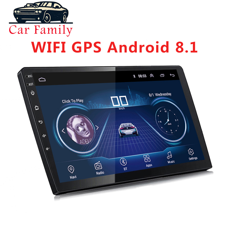 2 Din Android 8.1 Car Multimedia Player 9 Inch or 10 Inch Bluetooth FM Wifi Universal GPS Navigation Head Unit For Any Car Model