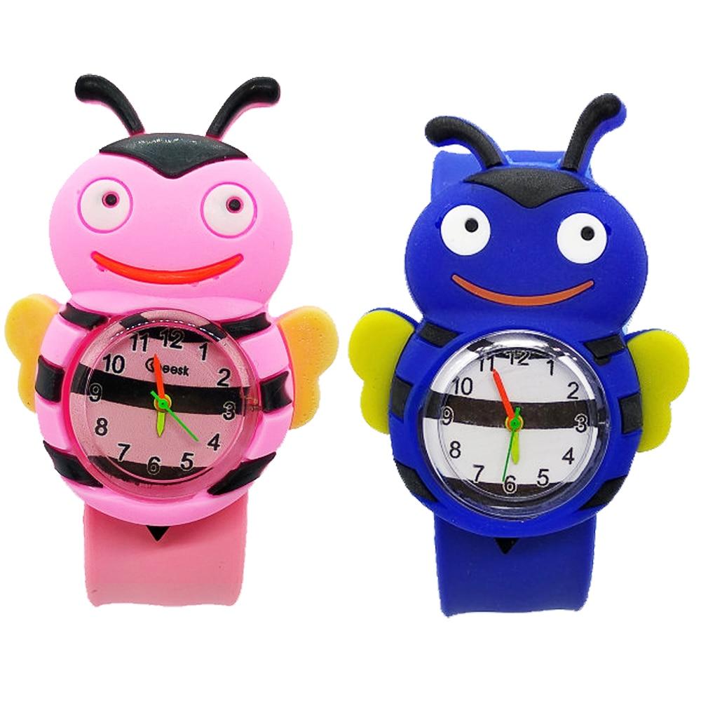 Мультяшные насекомые, пчела, божья коровка, игрушки для детей, детские часы, детские спортивные часы, студенческие девочки, мальчики