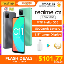 Realme C11 2GB RAM 32GB ROM Globale Version Helio G35 5000mAh Batterie 3 Kameras Unterstützung Multi Sprache play Store