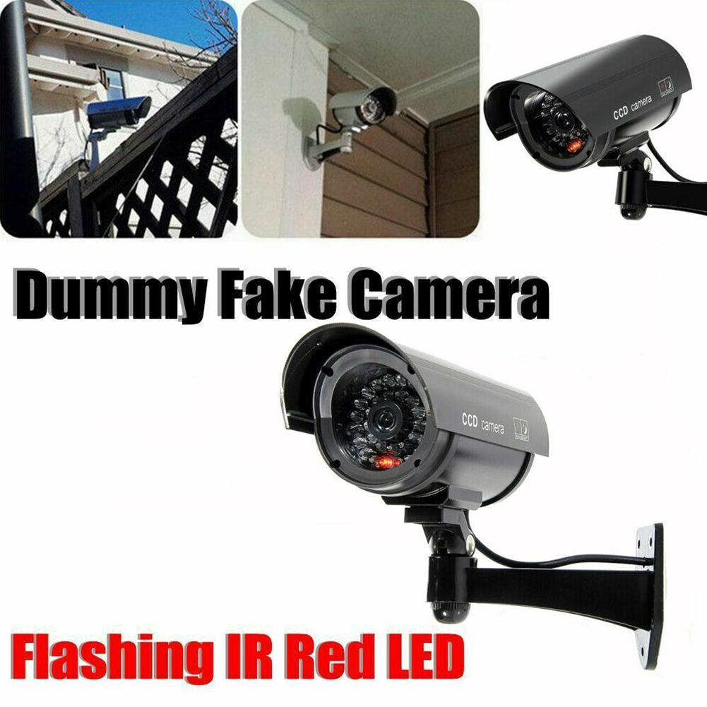 Fake Dummy Simulated Decoy SECURITY CAMERA Surveillance CCTV Red Flashing LED