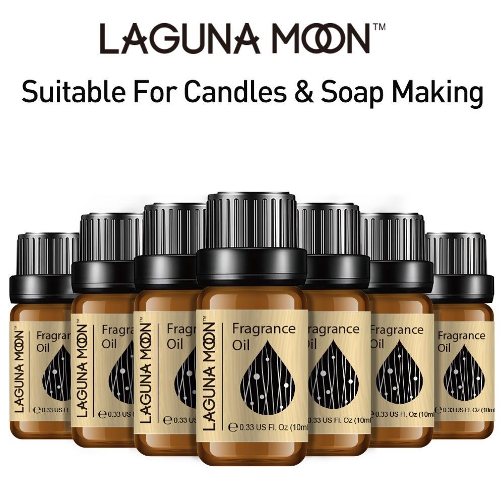 Lagunamoon White Musk 10ml Oil Fresh Linen Baby Powder Bubble Gum Strawberry Sea Breeze Lime