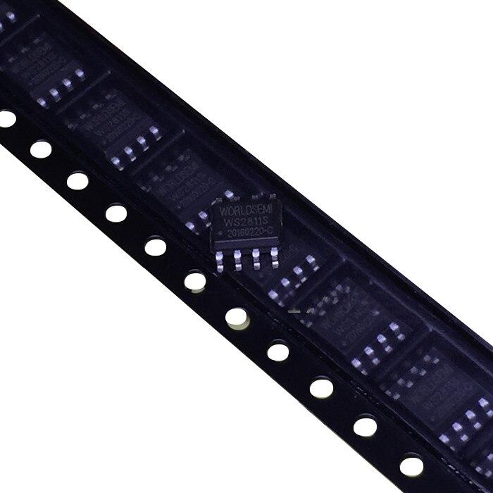 Купить с кэшбэком Original 50 Pcs WS2811S 2811 WS2811 2811S Chip LED SOP-8 Driver Chip Integrated Circuit IC