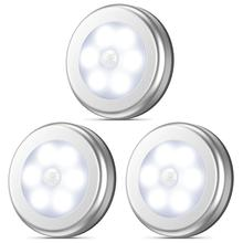 Night-Light Closet Stair-Lamp Magnet-Safe Motion-Sensor Bathroom Round Hallway Wireless