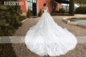 Image 3 - יוקרה תחרה חתונה שמלת 2020 מתוקה Robe דה Mariee Custom להפוך Chaple רכבת חתונת שמלות Vestido דה Novia