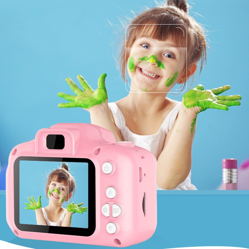 800W Kids Mini Digital Camera Toy Chargable Photography Props Cute Baby 2 Inch HD Screen Video Recorder Camera