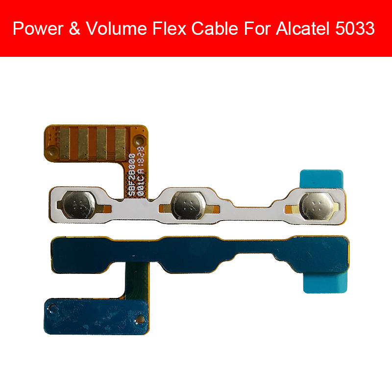 Power & Volume Flex Cable For Alcatel 5033 Power On Off Volume Down Up Button Flex Ribbon Cable Repair Replacement Parts