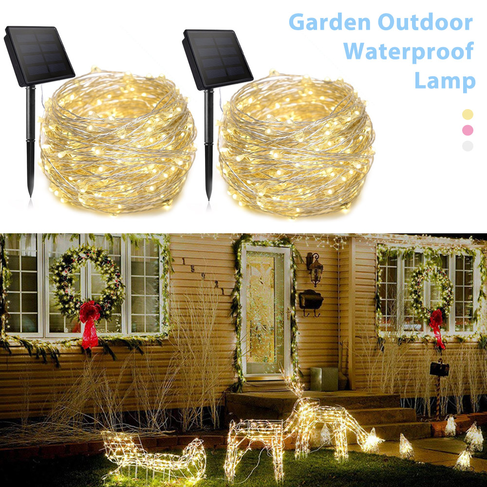 solar lamp led outdoor 7m 32m led fairy lights party holiday christmas garlands solar garden waterproof lights LED String Lights