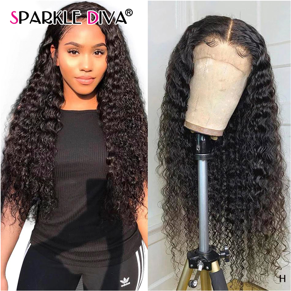 13x4 Deep Wave Lace Front Human Hair Wigs Pre Plucked Brazilian Lace Front Wig 150% Density Human Hair Wigs For Women Remy Hair