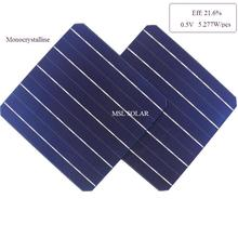 50pcs Mono solar cells Highly efficiency 21.6% A grade top quality diy 12V 24V 260W solar panel solar charger