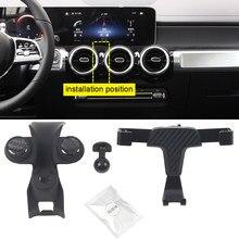 Para mercedes-benz glb x247/b-class w247 2019 2020 suporte do telefone móvel suporte de montagem do respiradouro de ar do carro