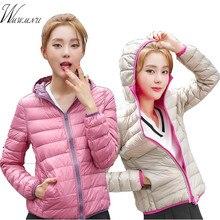 Women Warm Thin Ultra Light White Duck Down Jackets Mom Plus