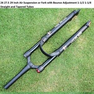 Велосипедная вилка с регулировкой отскока, пневматическая подвеска для горного велосипеда, прямая трубка, конус через EPIXON SID 26 27,5 29 дюймов
