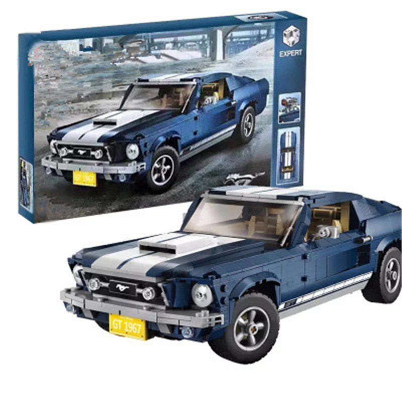 Lepins Ford Mustang Building Blocks Bricks 10265 Compatible Creator Expert Intellectual Education Toys Gifts For Children