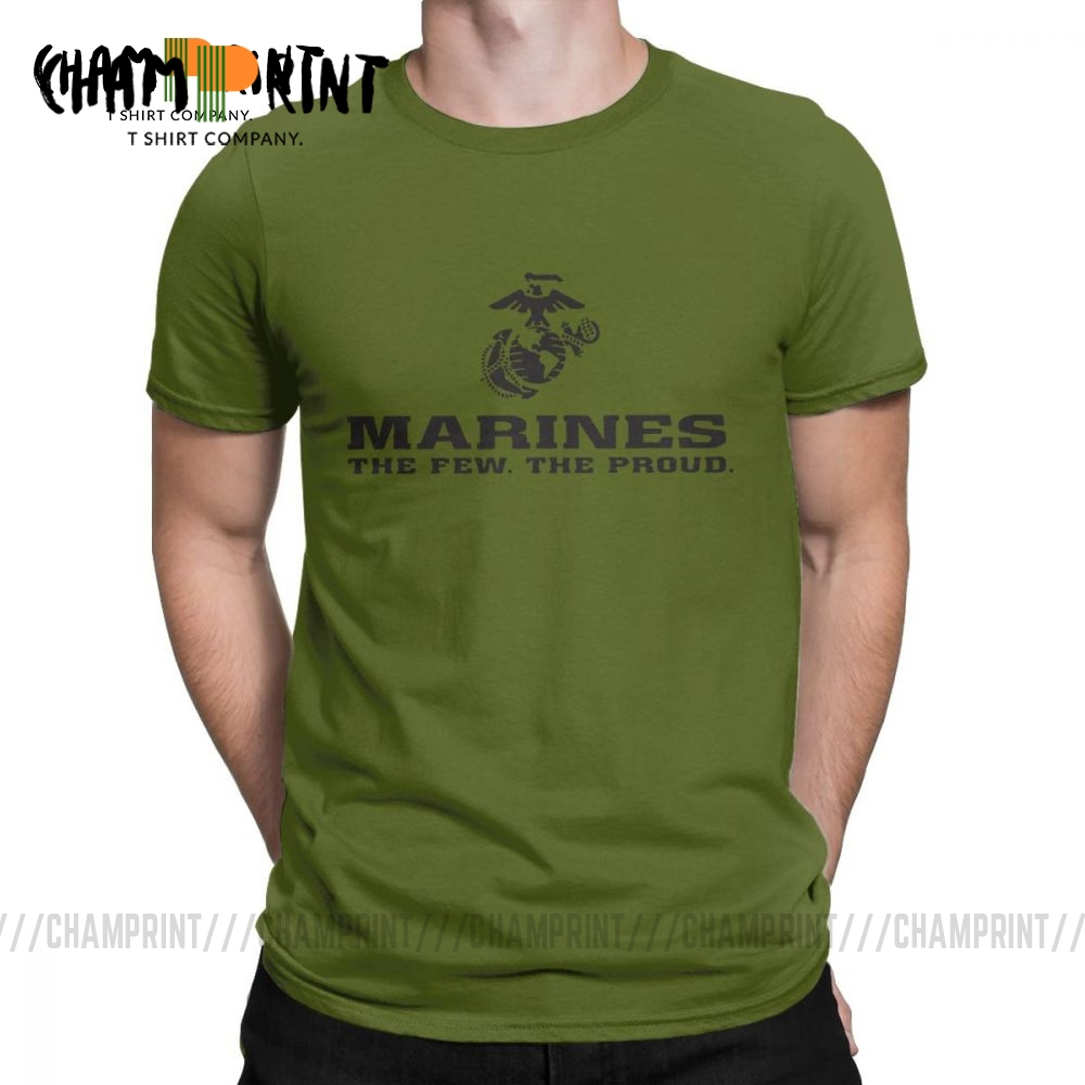 Marines Tops The Few The Proud <font><b>USMC</b></font> Tees Marine Corps Military MOS 0317 Men <font><b>T</b></font> <font><b>Shirts</b></font> Vintage Short Sleeve O Neck <font><b>T</b></font>-<font><b>Shirts</b></font> Cotton image
