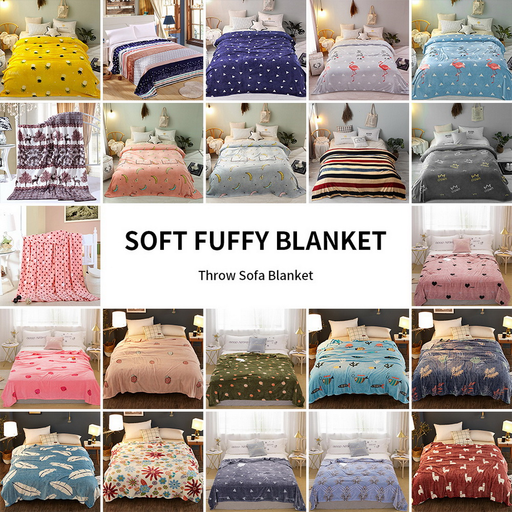 Super Soft Plush Throws-Printed