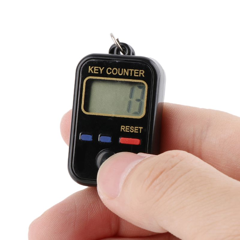 2021 New LCD Digit Electronic Tally Counter 0-99999 Keychain Finger Counter For Sewing Knitting Weave Tool