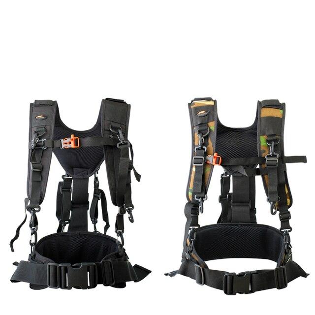 מצלמה DSLR חגורת שירות טכני לרתום ערכת צילום תליית עדשת פאוץ מקרה רב תכליתי קבוע תרמיל רצועה