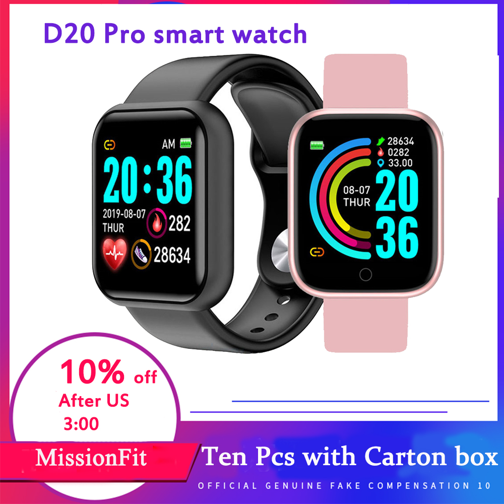 D20 Pro Smart Watch Women Men Smart Bracelet Blood Heart Pressure Fitness Tracker Relogio Intelige  Hours For Andriod Iphone