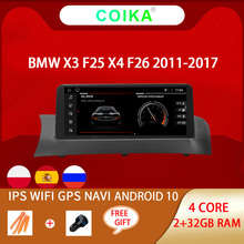 """10.25"""" Android 10 System Car Display Stereo For BMW X3 F25 X4 F26 2011 2017 2+32GB WIFI IPS Touch Screen GPS Navi Player"""