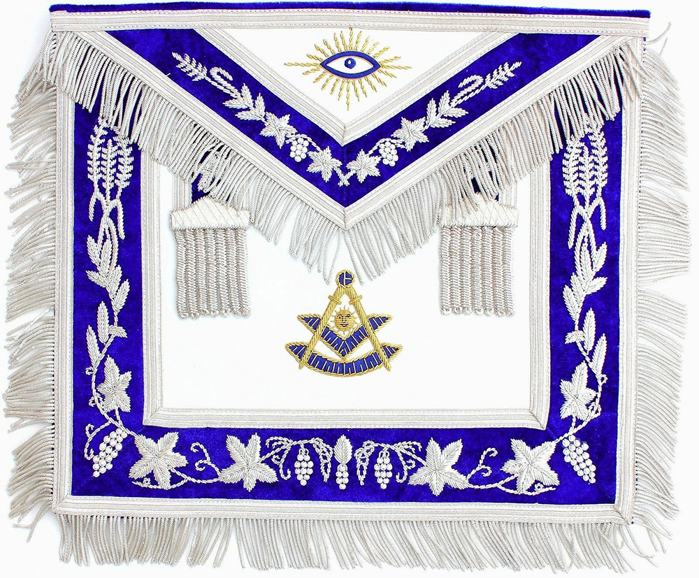 Masonic Embroidered Leather Masonic American Grand Hotel Fringe Apron Official Apron Embroidery Square And Compass Badge