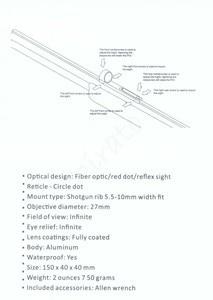 Image 5 - Avcılık kapsamları hafif Fiber Sight 1x28 kırmızı nokta görüşü kapsam kırmızı ve yeşil Fiber Fit av tüfeği kaburga ray avcılık çekim