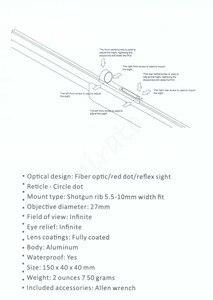 Image 5 - Jacht Scopes Lichtgewicht Fiber Sight 1X28 Red Dot Sight Scope Rode En Groene Fiber Fit Shotguns Rib Rail jacht Schieten