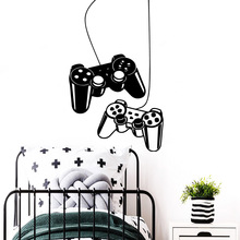 Creative Gamer Vinyl Wall Stickers Gamepad Wallpaper For Kids Boy's Room Game Room Decoration