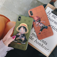 Kartun One Piece Luffy Ace Phone Case untuk Apple I Phone 11 Pro Max X XS Xsmax XR 7 8 6 S Plus Lembut IMD Cover Fundas Coque(China)