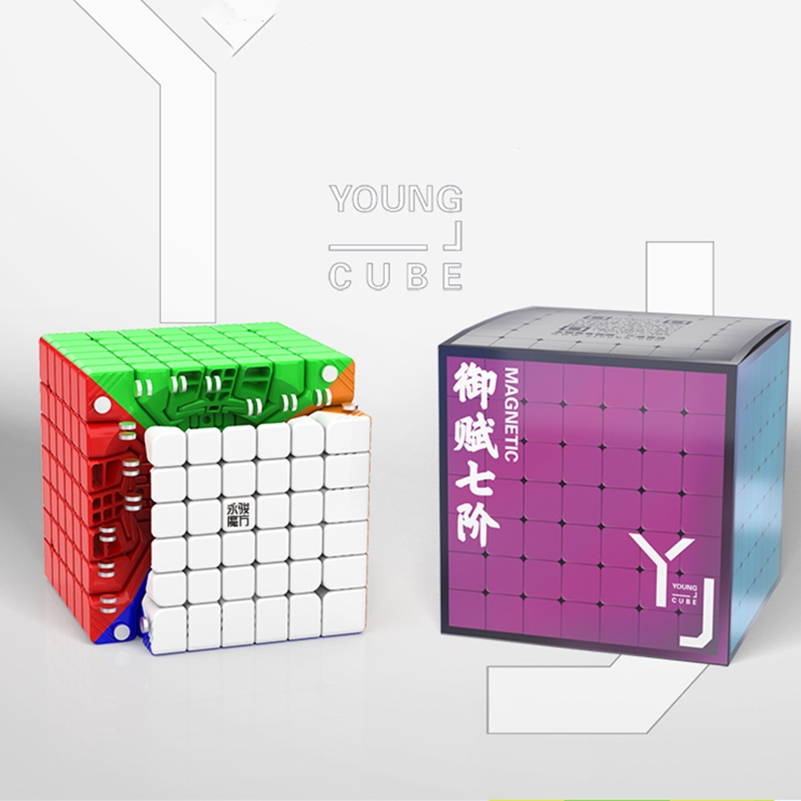 Yongjun 7x7x7 Magnetic Speed Cube Puzzle Cube Magic Yufu 7x7 Built-in Magnet Cube Magico Yj V2M 7x7 Educational Children Toys