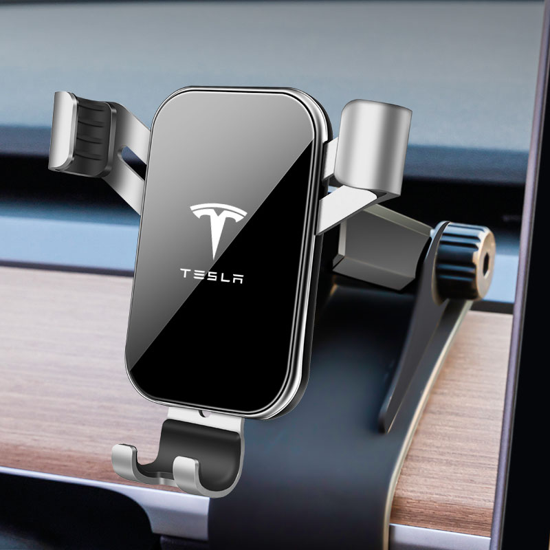 LQY voiture Navigation Mobile Support pour téléphone Support pour Tesla modèle 3 2017-2019
