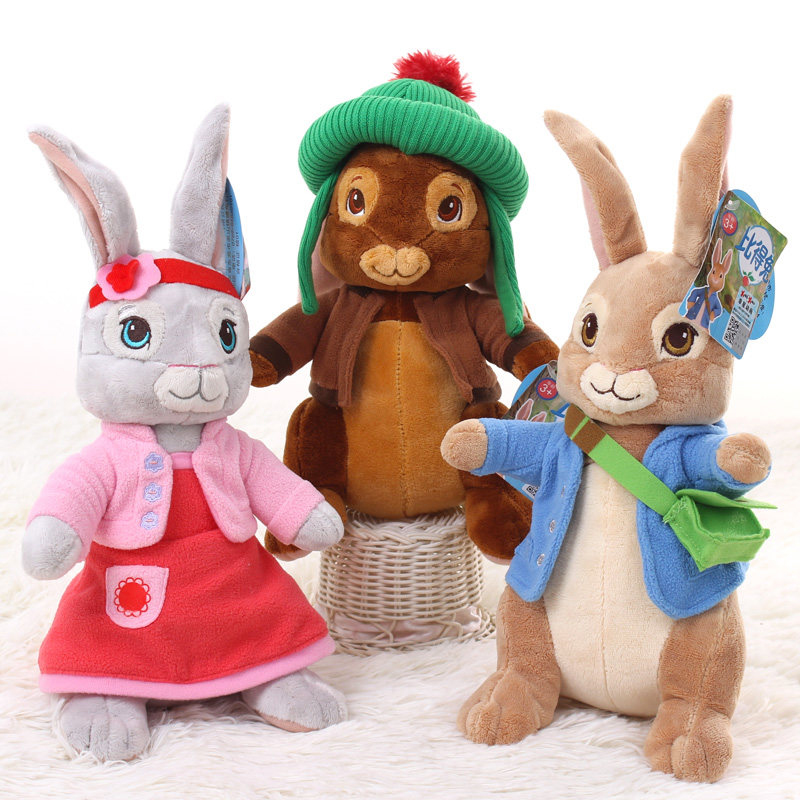30cm/46cm Anime Plush Peter Rabbit Plush Toy Cute Girl Stuffed Peter Rabbit Animal Doll Birthday Children's Day Gift