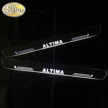 SNCN araba LED kapı eşiği Nissan Altima 2013   2018 için 2019 Ultra ince akrilik dinamik LED karşılama ışığı sürtme plakası pedalı