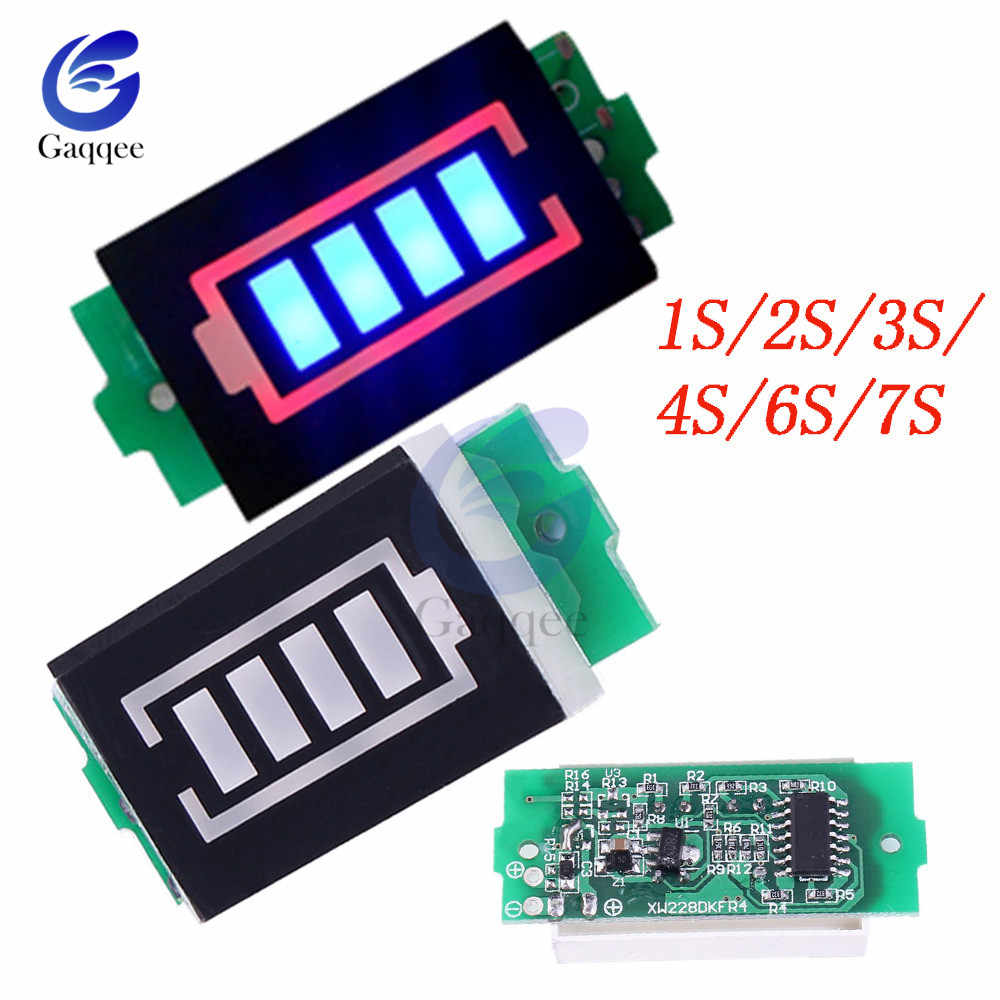 1S/2S/3S /4S/6S/7S Battery Capacity Indicator Meter Power Level Tester Module Display Board Panel For 18650Li-po Li-ion Battery