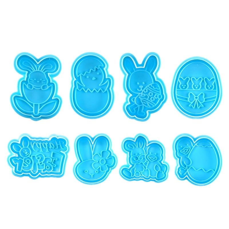 8 шт. пасхальное яйцо кролик поршень печенье резак печенье штамп для украшения торта 87HA