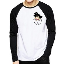 Dragon Ball T-shirt Long Sleeve Men Winter Z Super Son Goku Slim Fit Cosplay 3D T Shirts Vegeta Tshirt Homme