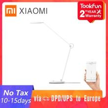 Xiaomi MIJIA Mi lámpara de mesa Pro LED inteligente lectura lámpara de escritorio estudiante Oficina mesa Luz doblado Luz de noche junto a la cama Mihome APP