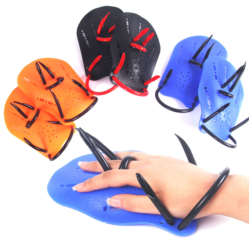Professional Swimming Paddles Training Silicone Hand Gloves Padel Fins Flippers For Adults Kids Swim Gear SEC88