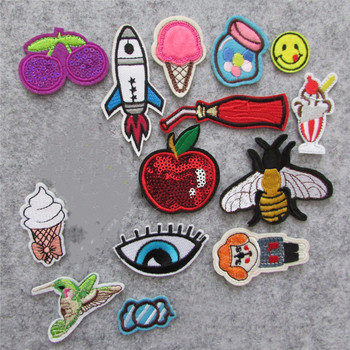 hot 16kind different style patches hot melt adhesive applique embroidery patch stripes DIY clothing accessory patch C5631-C5654 image