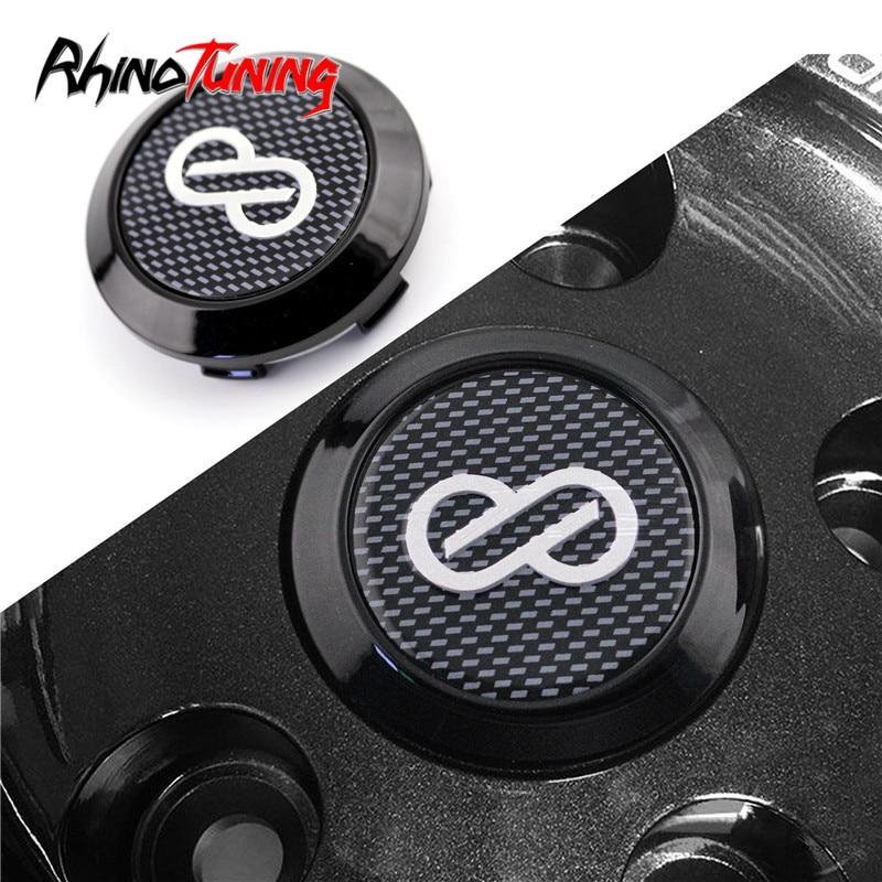 4pcs 68mm 64mm Enkei Center Cap for Rims Carbon Fiber Style Wheel Caps Hub For Enkei RPF1 OEM Logo Glossy Black Accessories-in Wheel Center Caps from Automobiles & Motorcycles
