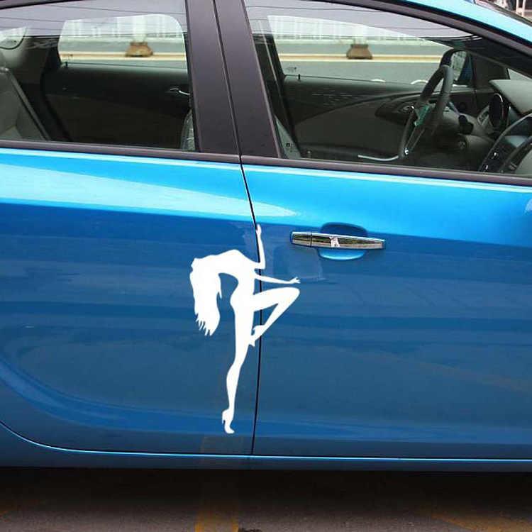 Menina sexy pólo dança porta do carro adesivos preto branco para lexus es300 es350 rx300 rx330 rx350 is200 is250 lx470 gx470