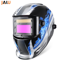 Portable Automatic Welding Helmet Mask Helmet Electric TIG MIG Welding Solar Auto Darkening Li Battery Welding Lens Mask