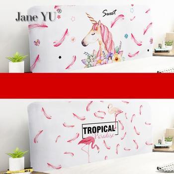 JaneYU Head-to-back Protective Sheath Soft Wood Sheath Head Dust-proof Sheath Double-sided Printing Headboard Cover фото