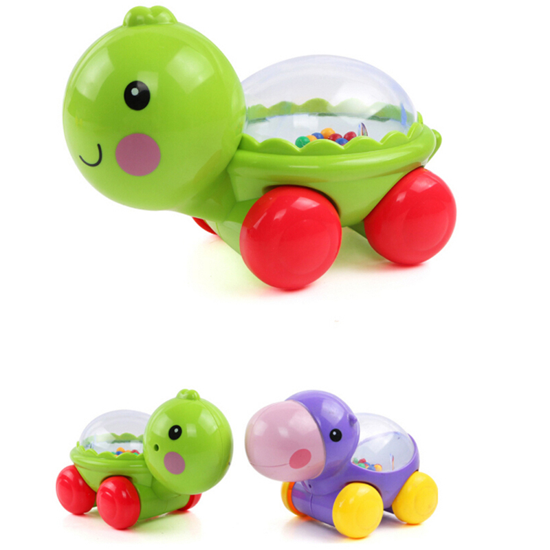 Cartoon Gliding Sliding Little Hippo Tortoise Cart Learning Educational Toys For Childrens Baby Kids Creeping Toy Cute Gifts