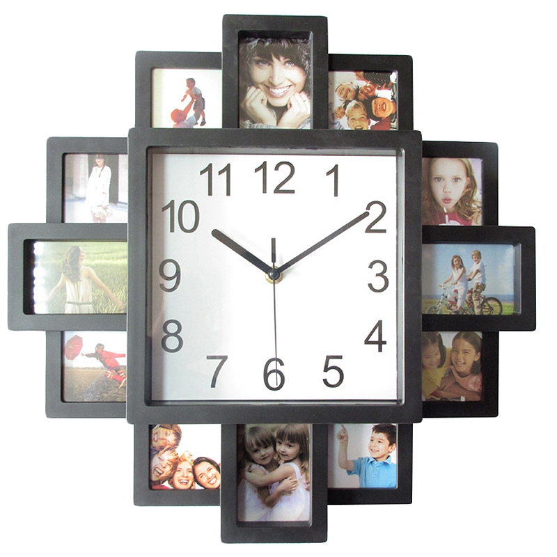 Promotion--Photo Frame Wall Clock New Diy Modern Desigh Art Picture Clock Living Room Home Decor Horloge