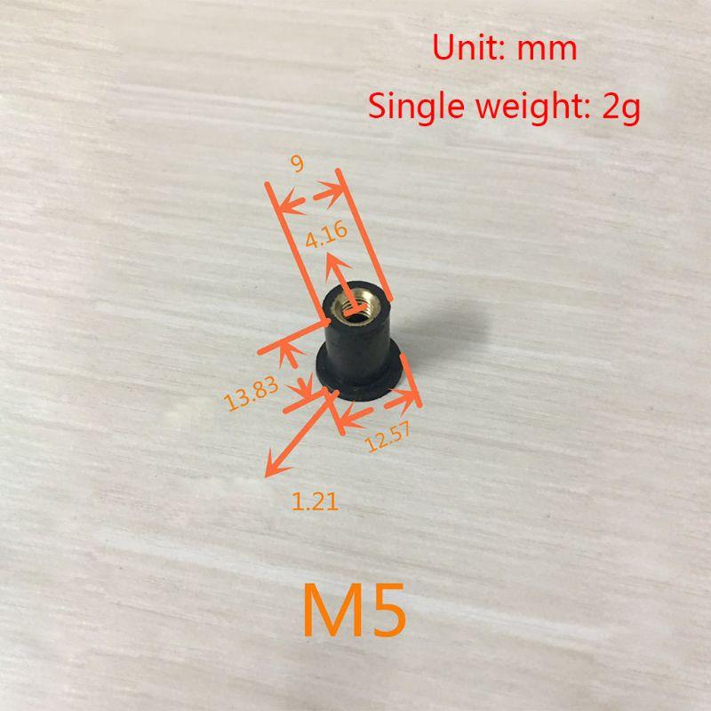 M4/M5/M6 Rubber Well Nuts Blind Fastener Windscreen Windshield Fairing Cowl E7CA