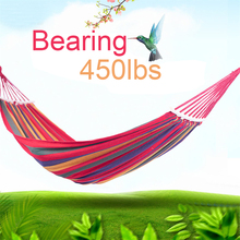 Double Hammock 450 Lbs Portable Travel Camping Hanging Hammock Outdoor Swing Lazy Chair Canvas Hammocks
