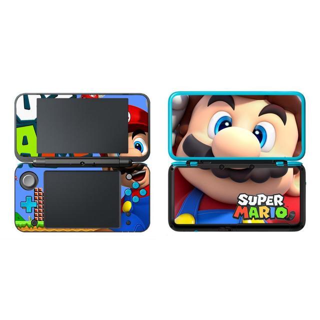 Super Mario Película protectora decorativa para Nintendo 2, 2DS, LL, XL, pegatina de piel de vinilo, etiqueta de protección