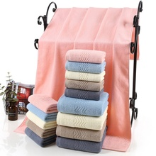 Colorful Bath Towel Cotton Adult Thicken Comfortable Hair Large Water Pattern Pink Thickening