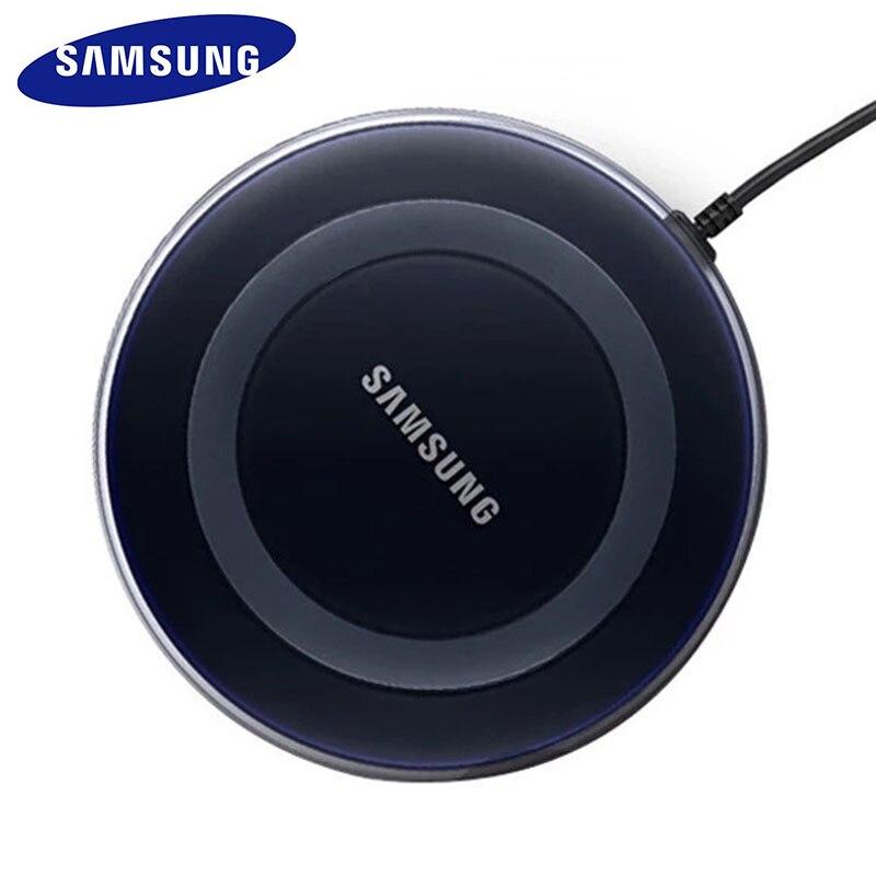 Carregador sem fio samsung 5v/2a qi, com cabo micro usb, para samsung galazy s7, s6, edge, s8 s9 s10 plus para iphone 8 x xs max xr|Carregadores de celular|   -