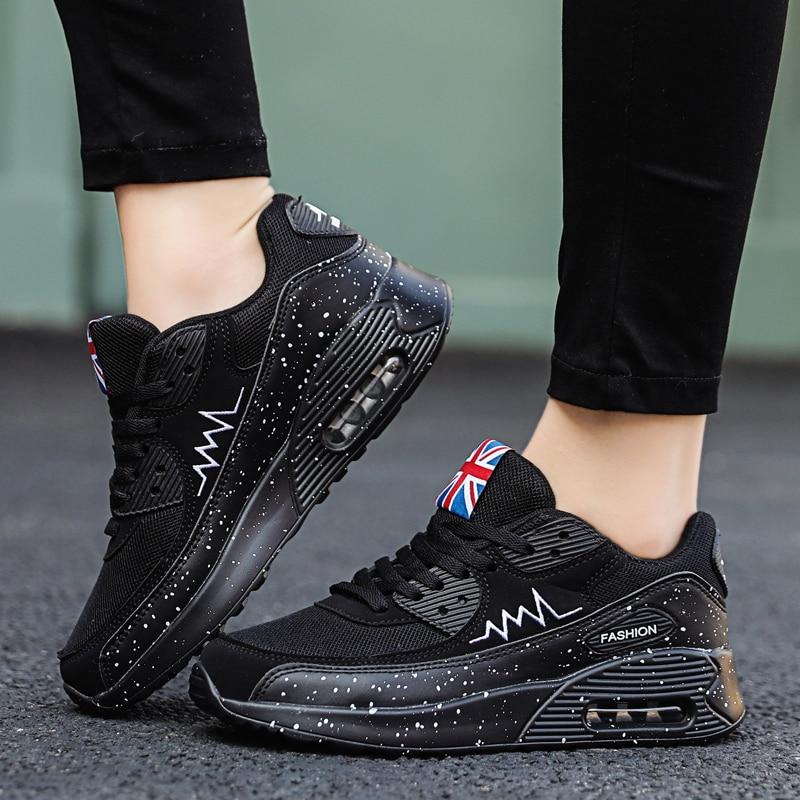 Женские кроссовки из сетчатого материала; модная обувь на плоской подошве с воздушной подушкой; женские кроссовки на толстой платформе; повседневная обувь; Zapatos De Mujer; Новинка; Лидер продажКроссовки и кеды   -